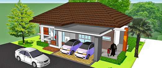 One-storey single house (Rajapruek(Special) )
